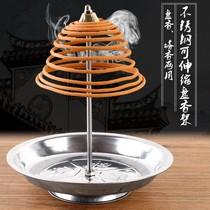 圆形点香防火棉垫耐高温隔热阻燃檀香盒香垫香炉棉盘