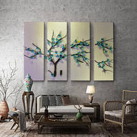 Original Southeast Asian folk art new house decoration new Chinese atmosphere living room decorative painting wall decoration background wall