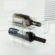 新品 可叠加红酒架冰箱酒杯收纳架厨房调味瓶收纳架横放瓶子架