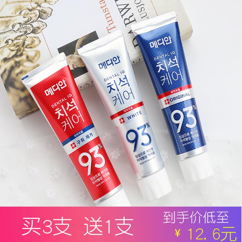 韩国进口爱茉莉麦迪安86牙膏去口臭美白口气清新去黄牙膏家庭装