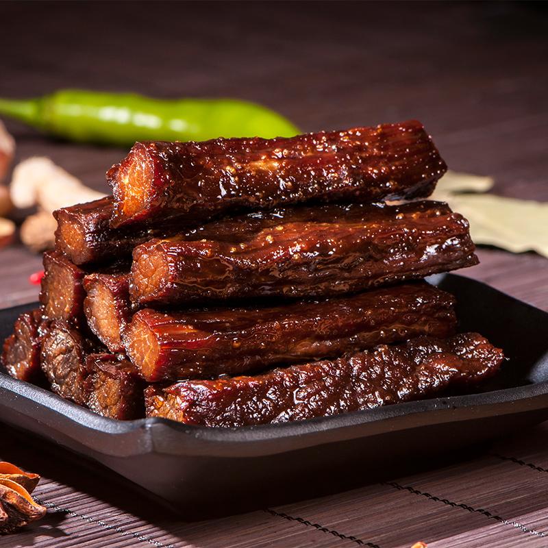 8成干内蒙古手撕风干牛肉干500g内蒙古特产独立包装零食小吃包邮