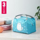 加厚手提饭盒袋卡通防水保温包保温袋子带饭包保暖铝箔帆布饭袋子图片
