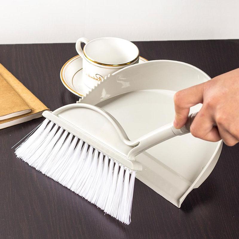小扫把 迷你簸箕 键盘刷 细缝刷 桌面扫帚组 清洁刷