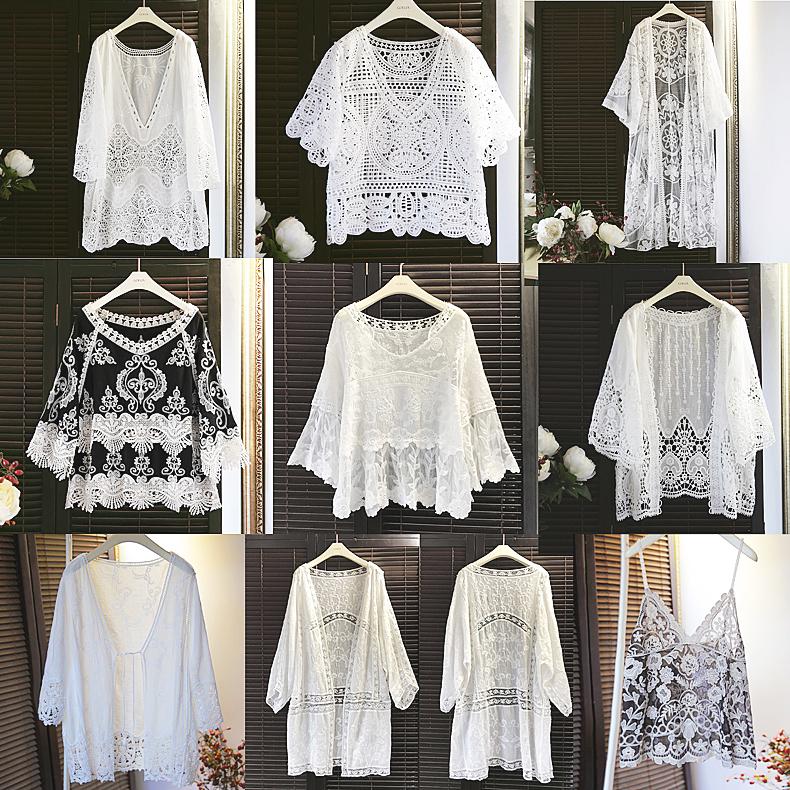 纯棉蕾丝衫
