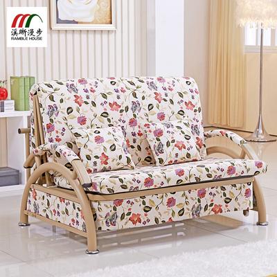 沙发折叠床两用实木