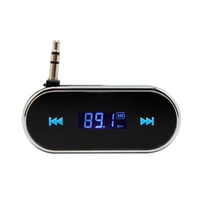 Mobile phone universal car FM transmitter can be folded 3.5mm interface Apple iphone5 6plus