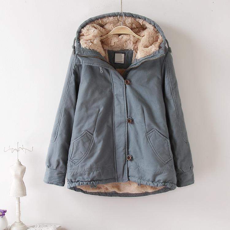 外套女 冬季 潮流学生可爱宽松加厚羊羔毛小棉衣短款 韩版 天天特价