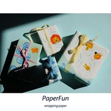 一起去游泳吧/森系卡通包书纸礼品纸DIY六一儿童包装 PaperFun