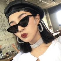 箭头飞行毡蛤蟆镜女式太阳镜家K欧美网红新款无框海洋片墨镜