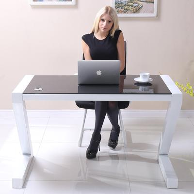 办公桌简约现代迷你书桌小户型小型简易钢化玻璃电脑桌 台式家用哪款好