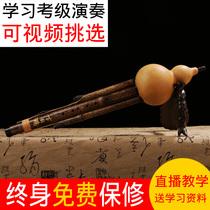 专业教学入门真葫芦丝幽乐调天然紫竹三音C调B乐器降葫芦丝初学