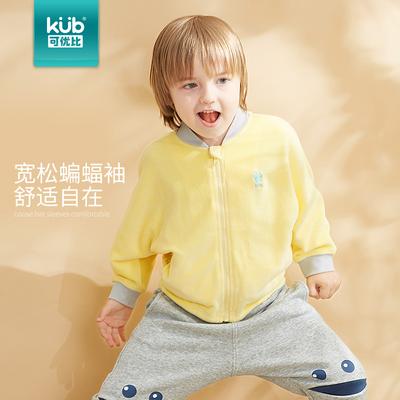 KUB可优比童装男童女童外套2018秋冬新款加绒保暖外衣蝙蝠袖韩版