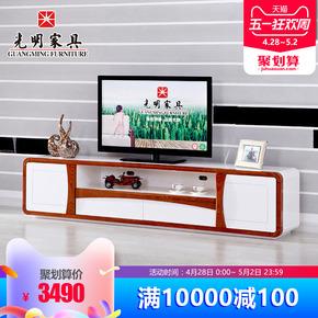 光明家具 进口水曲柳全实木电视柜 简约现代电视机柜客厅柜地柜