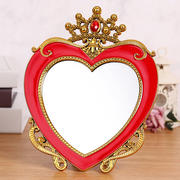 High-end festive wedding mirror comb a pair of red desktop makeup mirror bride dowry female dowry set
