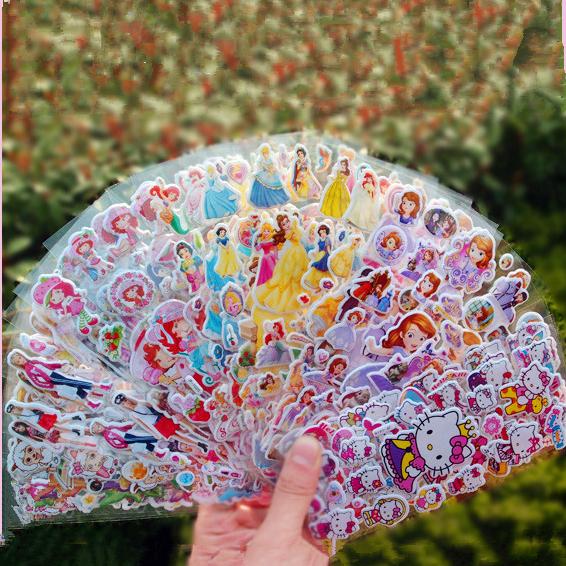 50 children's cartoon stickers baby bubble stickers kindergarten reward stickers sticky stickers