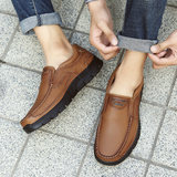 Red sea camel male shoes head layer leather men leather shoes leather summer breathable lazy leisure business dad shoes