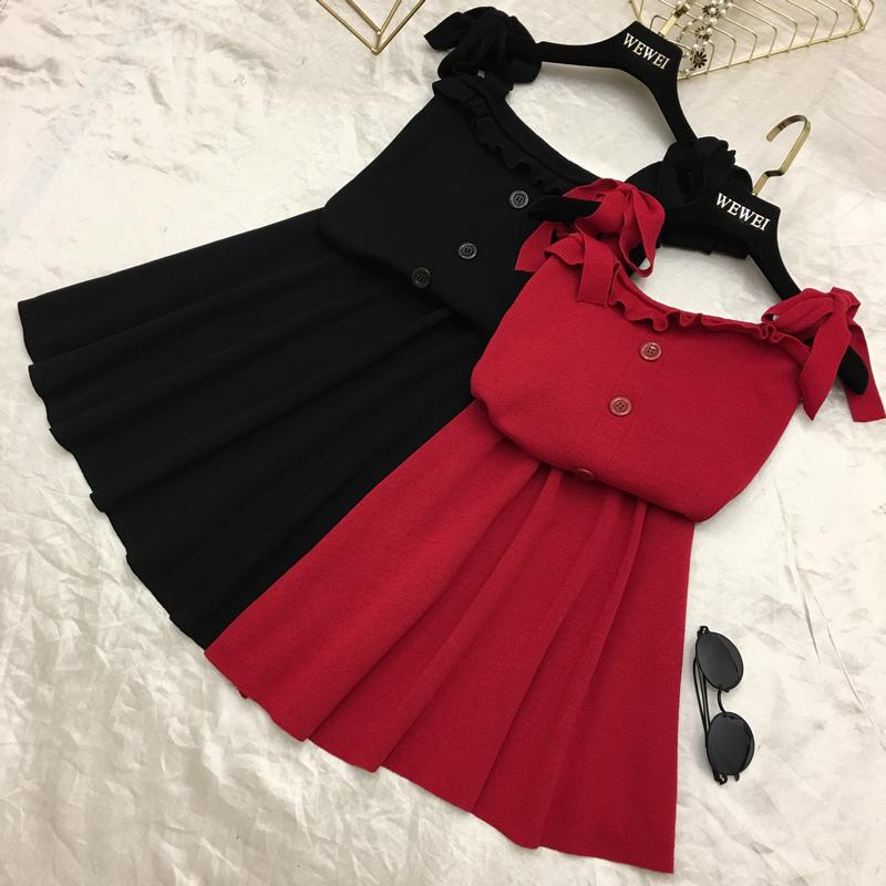 欧美甜美黑色连衣裙
