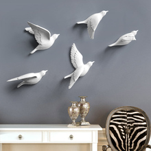 时尚立体小鸟壁饰墙贴创意个性家居电视背景墙面装饰品挂件免打孔
