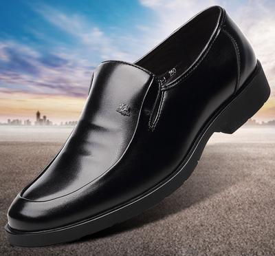 加大號男士黑色商務皮鞋45正裝休閑46加肥47腳寬48真皮特大碼男鞋