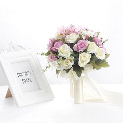 新娘手捧花韩式婚礼伴娘仿真假花结婚手捧花创意旅拍摄影道具捧花