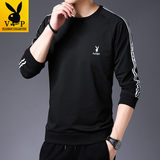 Playboy long-sleeved t-shirt men's 2019 fall Korean version of the casual wear men's tide round collar on the men's T-shirt