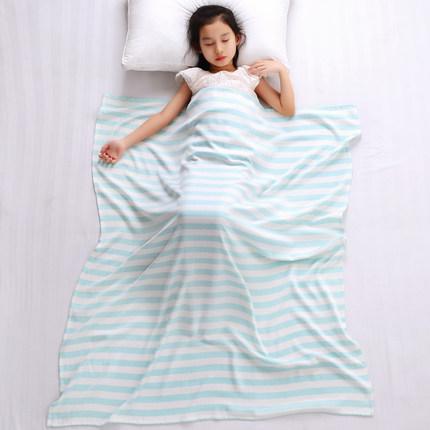 婴儿冰丝小毯子竹纤维盖毯夏季新生儿童毛巾被幼儿园薄宝宝空调被