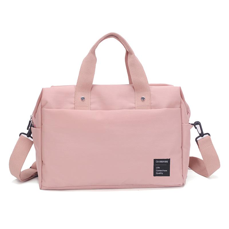 旅行包女手提包小行李包韩版简约轻便短途小清新套拉杆出差旅行袋
