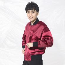 酒红色宽松加厚男士 棉服夹克 路克原创设计