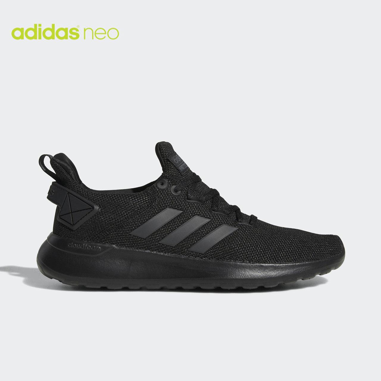 Adidas/阿迪达斯男鞋LITE RACER黑白网面运动跑步休闲鞋 AC7828