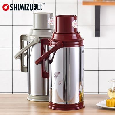 清水热水瓶家用不锈钢水壶玻璃内胆暖壶保温瓶大容量暖水瓶开水瓶