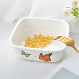 2018 Kinds of Korean Bowl Rectangular New Kind of Ceramic Korean Bowl Mixing Noodle Bowl Ceramic Dinner Bowl Square Rectangular