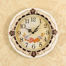 【天天特价】欧式挂钟静音客厅钟表圆形复古田园简约现代墙钟创意