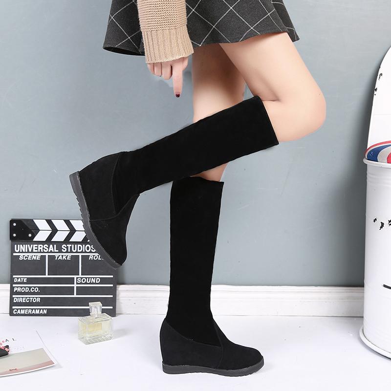 韩国坡跟女靴