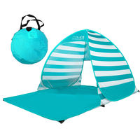 Tent outdoor 2-3-4 people fully automatic portable double sun fishing wild folding free to build a beach tent