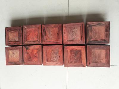 特价清仓红木家具老挝大红酸枝四方形花几花架底座音箱脚垫多用途