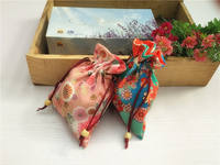 Export Japanese kimono and wind cloth bag storage bag token bag small handbag gift bag about 14*18 3-1