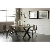 北欧式轻奢餐桌子椅组合实原木水泥工业风复古现代简约表情家具