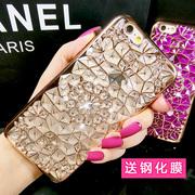 奢华个性苹果6s手机壳水钻iphone 6plus硅胶新款8挂绳7plus女款5s