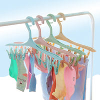 Multi-functional hanger clothes, underwear, socks, clips, household clothes, plastic hangers, drying racks