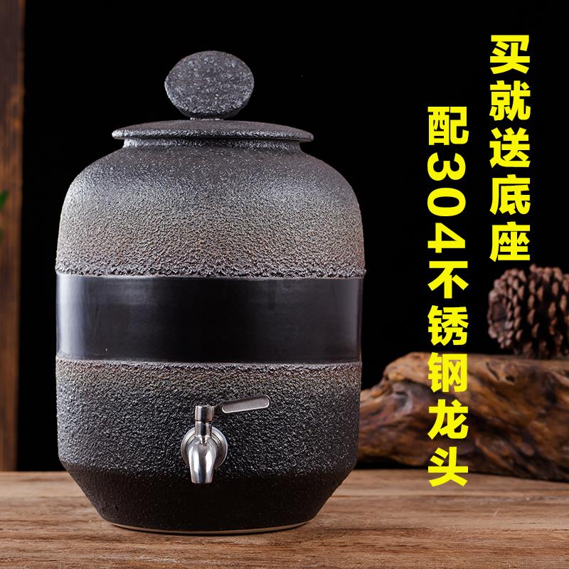 陶瓷水缸带水龙头
