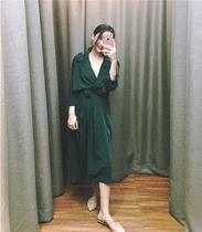 春风衣女中长款收腰系带气质百搭拼接外套2019独家设计LALAAND
