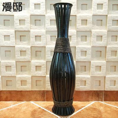 大号艺术高花瓶创意花插美式手工复古插花器欧式落地花桶摆件