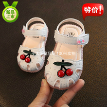 Summer 2019 New Girls'Sandals Flowers Children's Sandals Baby Girls' Open-toed Sandals Princess's Leather Shoes 1-3 Years Old 2