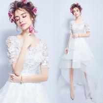 天使嫁衣森系梦幻超仙前短后长拖尾新娘旅拍外景海景婚纱礼服2367