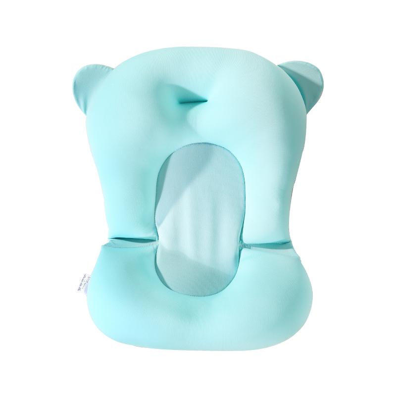 婴儿洗澡网兜宝宝洗澡神器可坐躺防滑垫新生儿浴盆浴架沐浴床通用