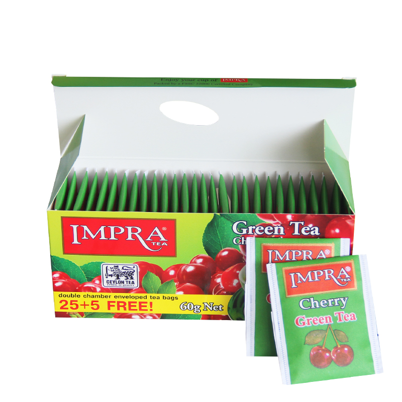 锡兰茶 斯里兰卡进口下午茶包 袋 30 樱桃味绿茶 英伯伦 IMPRA