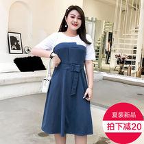 美动态胖mm法式复古裙大码女装2019夏装适合胖女人穿的连衣裙减龄