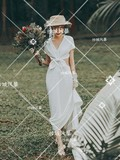New photo studio Sen travel bridal wedding French simple Korean dress exterior couple photo photo theme clothing