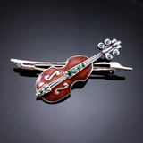 Joint jewelry European classical jewelry natural emerald Topaz enamel 925 Sterling Silver Brooch orphans