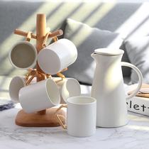 Nordic minimalist flower théière maison pot froid céramique haute température bouilloire froide Grande Capacité Tasse deau ensemble
